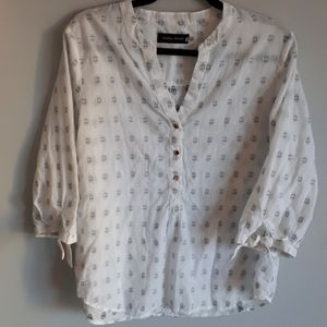 Ivanka Trump cotton print blouse